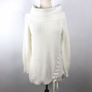 Jessica Simpson White Cowl Neck Gwenore Sweater